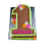 Chocolaty 1st Birthday Cake